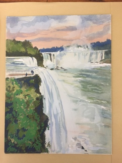 Hand-painted Image of Niagra falls